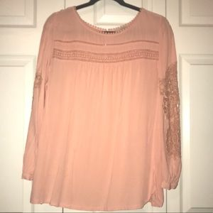 Loft lace detailed blouse